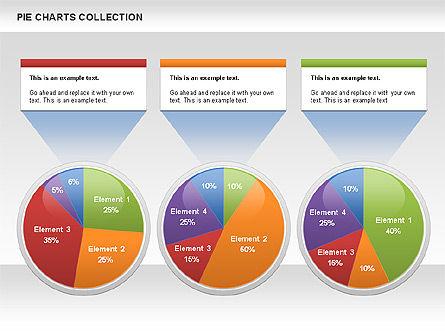 Pie Chart Collection, Slide 9, 00556, Pie Charts — PoweredTemplate.com