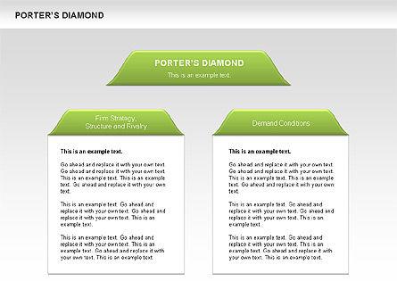 Porter's Diamond Diagram, Slide 2, 00557, Business Models — PoweredTemplate.com