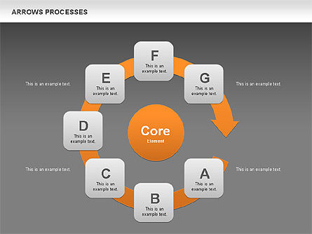 Processes with Curved Arrows Toolbox, Slide 11, 00558, Shapes — PoweredTemplate.com