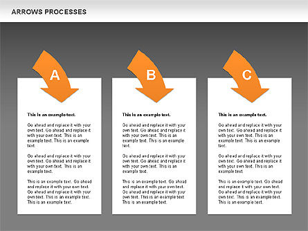 Processes with Curved Arrows Toolbox, Slide 12, 00558, Shapes — PoweredTemplate.com