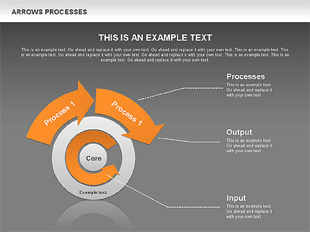 Processes with Curved Arrows Toolbox, Slide 13, 00558, Shapes — PoweredTemplate.com