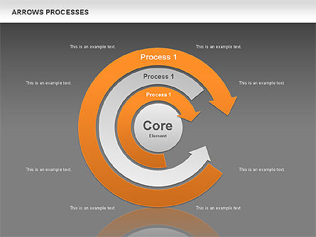 Processes with Curved Arrows Toolbox, Slide 14, 00558, Shapes — PoweredTemplate.com
