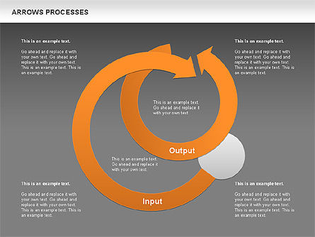 Processes with Curved Arrows Toolbox, Slide 15, 00558, Shapes — PoweredTemplate.com
