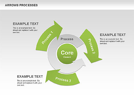 Processes with Curved Arrows Toolbox, Slide 5, 00558, Shapes — PoweredTemplate.com