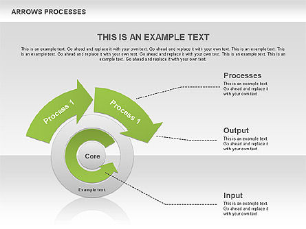Processes with Curved Arrows Toolbox, Slide 6, 00558, Shapes — PoweredTemplate.com