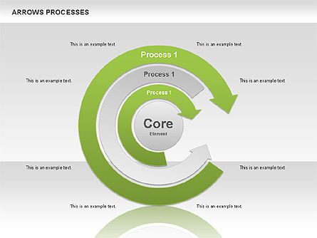 Processes with Curved Arrows Toolbox, Slide 7, 00558, Shapes — PoweredTemplate.com
