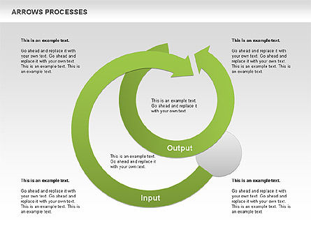 Processes with Curved Arrows Toolbox, Slide 8, 00558, Shapes — PoweredTemplate.com