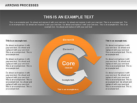 Processes with Curved Arrows Toolbox, Slide 9, 00558, Shapes — PoweredTemplate.com
