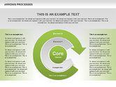 Shapes: 曲線矢印ツールボックスを使用したプロセス #00558