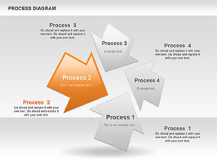 Process Diagrams: Process with Opposite Arrows Diagram #00559