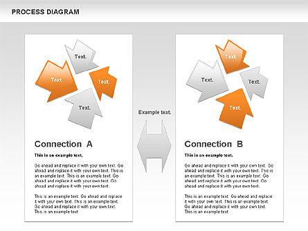 Process with Opposite Arrows Diagram, Slide 10, 00559, Process Diagrams — PoweredTemplate.com