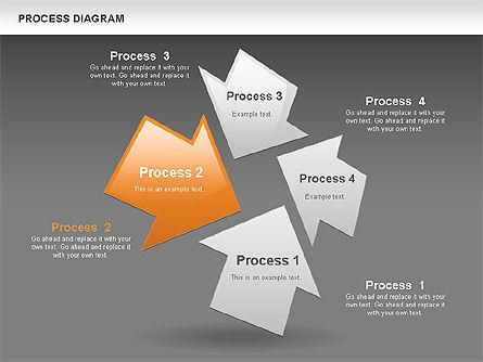 Process with Opposite Arrows Diagram, Slide 11, 00559, Process Diagrams — PoweredTemplate.com
