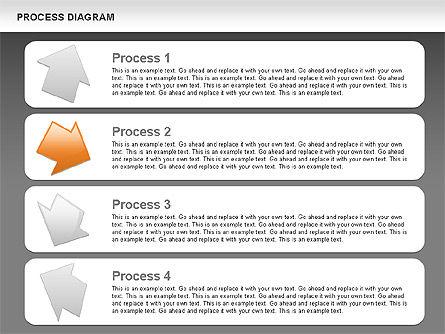 Process with Opposite Arrows Diagram, Slide 14, 00559, Process Diagrams — PoweredTemplate.com