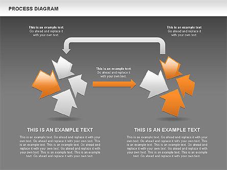 Process with Opposite Arrows Diagram, Slide 15, 00559, Process Diagrams — PoweredTemplate.com