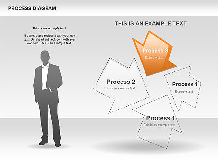Process with Opposite Arrows Diagram, Slide 5, 00559, Process Diagrams — PoweredTemplate.com