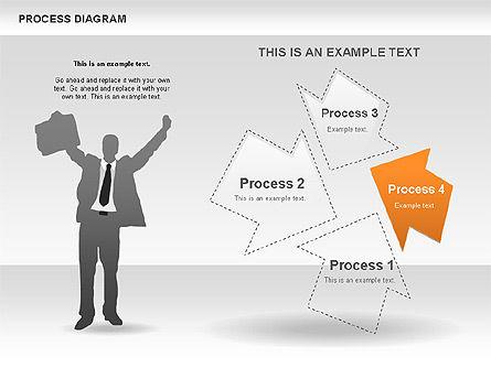 Process with Opposite Arrows Diagram, Slide 6, 00559, Process Diagrams — PoweredTemplate.com