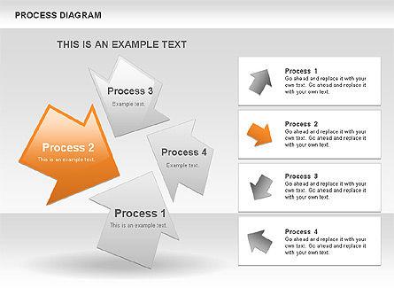 Process with Opposite Arrows Diagram, Slide 7, 00559, Process Diagrams — PoweredTemplate.com