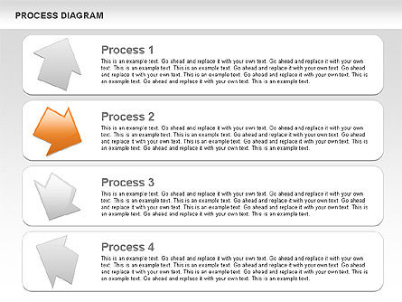 Process with Opposite Arrows Diagram, Slide 8, 00559, Process Diagrams — PoweredTemplate.com