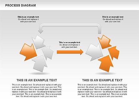 Process with Opposite Arrows Diagram, Slide 9, 00559, Process Diagrams — PoweredTemplate.com