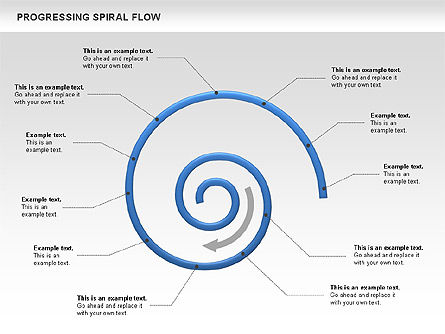 Progressing Spiral Flow Chart, 00560, Stage Diagrams — PoweredTemplate.com