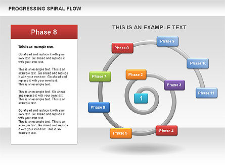 Progressing Spiral Flow Chart, Slide 11, 00560, Stage Diagrams — PoweredTemplate.com