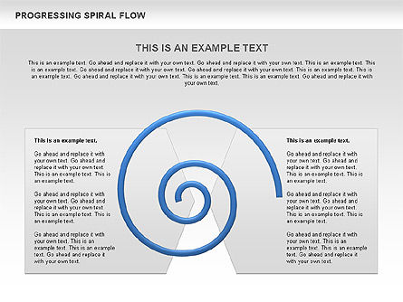 Progressing Spiral Flow Chart, Slide 15, 00560, Stage Diagrams — PoweredTemplate.com