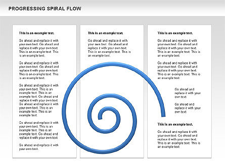 Progressing Spiral Flow Chart, Slide 16, 00560, Stage Diagrams — PoweredTemplate.com