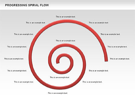 Progressing Spiral Flow Chart, Slide 17, 00560, Stage Diagrams — PoweredTemplate.com
