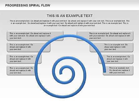 Progressing Spiral Flow Chart, Slide 2, 00560, Stage Diagrams — PoweredTemplate.com