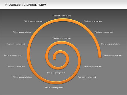 Progressing Spiral Flow Chart, Slide 20, 00560, Stage Diagrams — PoweredTemplate.com
