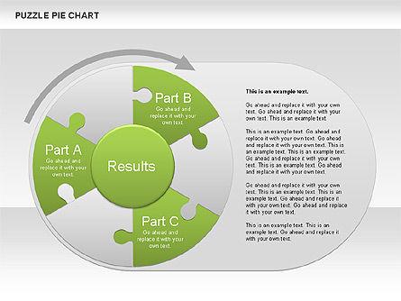 Puzzle Pie Chart, Slide 2, 00563, Pie Charts — PoweredTemplate.com