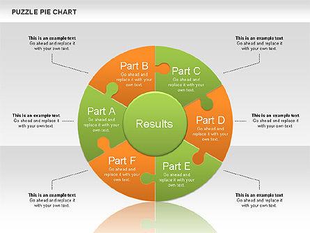 Puzzle Pie Chart, Slide 3, 00563, Pie Charts — PoweredTemplate.com