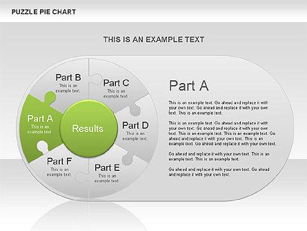 Puzzle Pie Chart, Slide 4, 00563, Pie Charts — PoweredTemplate.com