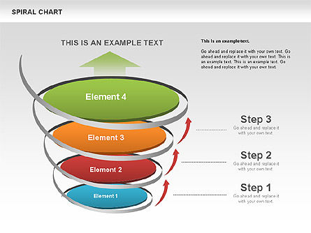 Spiral Funnel Chart, Slide 3, 00568, Process Diagrams — PoweredTemplate.com