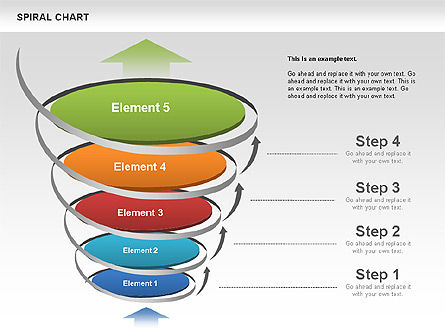 Spiral Funnel Chart, Slide 4, 00568, Process Diagrams — PoweredTemplate.com