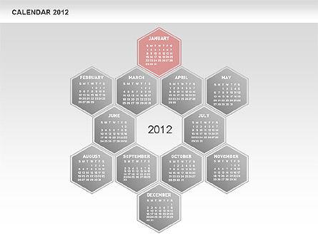 Free PowerPoint Diamond Calendar, Slide 2, 00569, Timelines & Calendars — PoweredTemplate.com