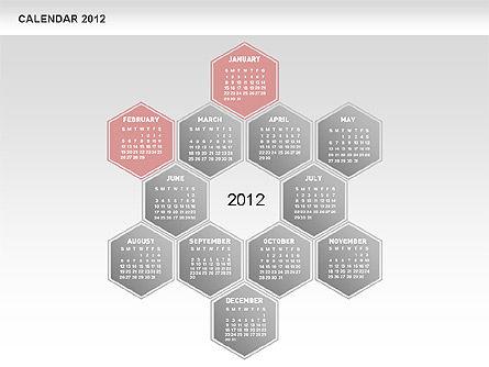 Free PowerPoint Diamond Calendar, Slide 3, 00569, Timelines & Calendars — PoweredTemplate.com