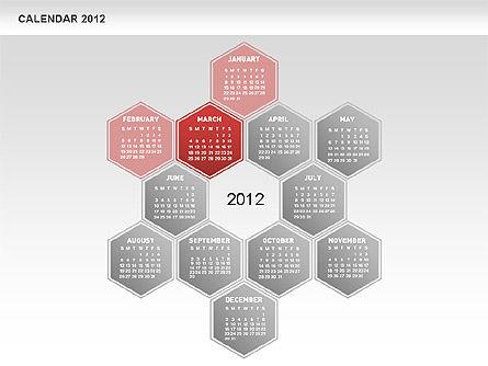 Free PowerPoint Diamond Calendar, Slide 4, 00569, Timelines & Calendars — PoweredTemplate.com