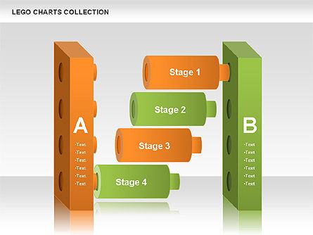 Lego Charts Collection, Slide 9, 00572, Stage Diagrams — PoweredTemplate.com