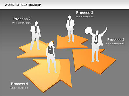Relationships Diagram, Slide 10, 00577, Process Diagrams — PoweredTemplate.com