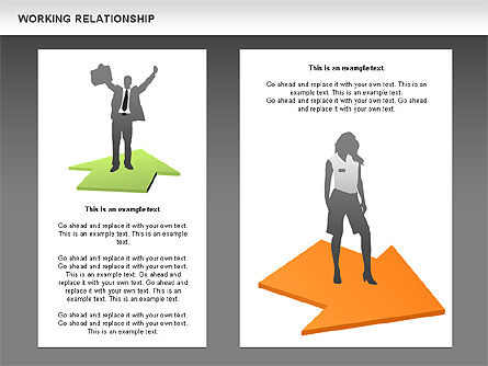 Relationships Diagram, Slide 11, 00577, Process Diagrams — PoweredTemplate.com