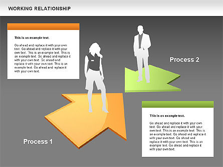 Relationships Diagram, Slide 12, 00577, Process Diagrams — PoweredTemplate.com