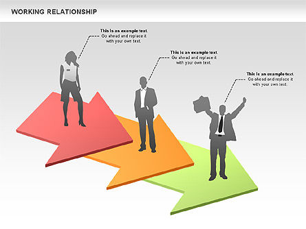 Relationships Diagram, Slide 2, 00577, Process Diagrams — PoweredTemplate.com