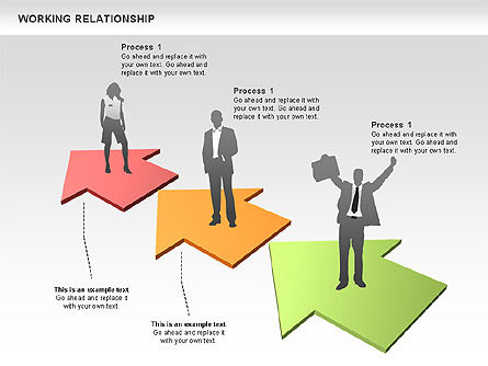 Relationships Diagram, Slide 3, 00577, Process Diagrams — PoweredTemplate.com
