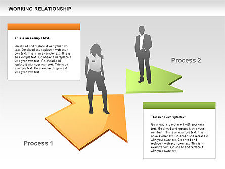 Relationships Diagram, Slide 4, 00577, Process Diagrams — PoweredTemplate.com