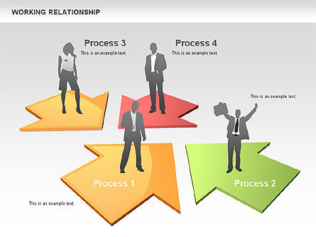 Relationships Diagram, Slide 5, 00577, Process Diagrams — PoweredTemplate.com