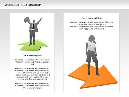 Relationships Diagram, Slide 6, 00577, Process Diagrams — PoweredTemplate.com