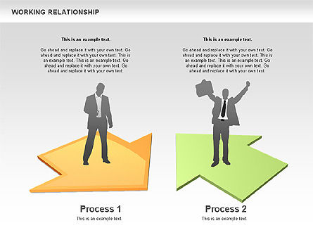 Relationships Diagram, Slide 7, 00577, Process Diagrams — PoweredTemplate.com
