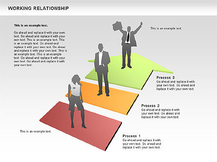 Relationships Diagram, Slide 8, 00577, Process Diagrams — PoweredTemplate.com