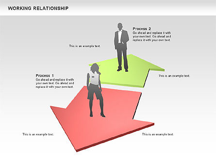 Relationships Diagram, Slide 9, 00577, Process Diagrams — PoweredTemplate.com